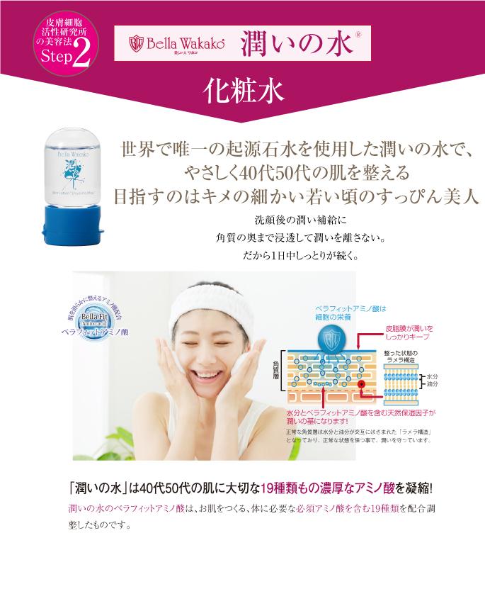無添加化粧品の潤いの水 栄養補給