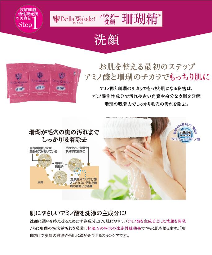 無添加化粧品の珊瑚精 洗顔