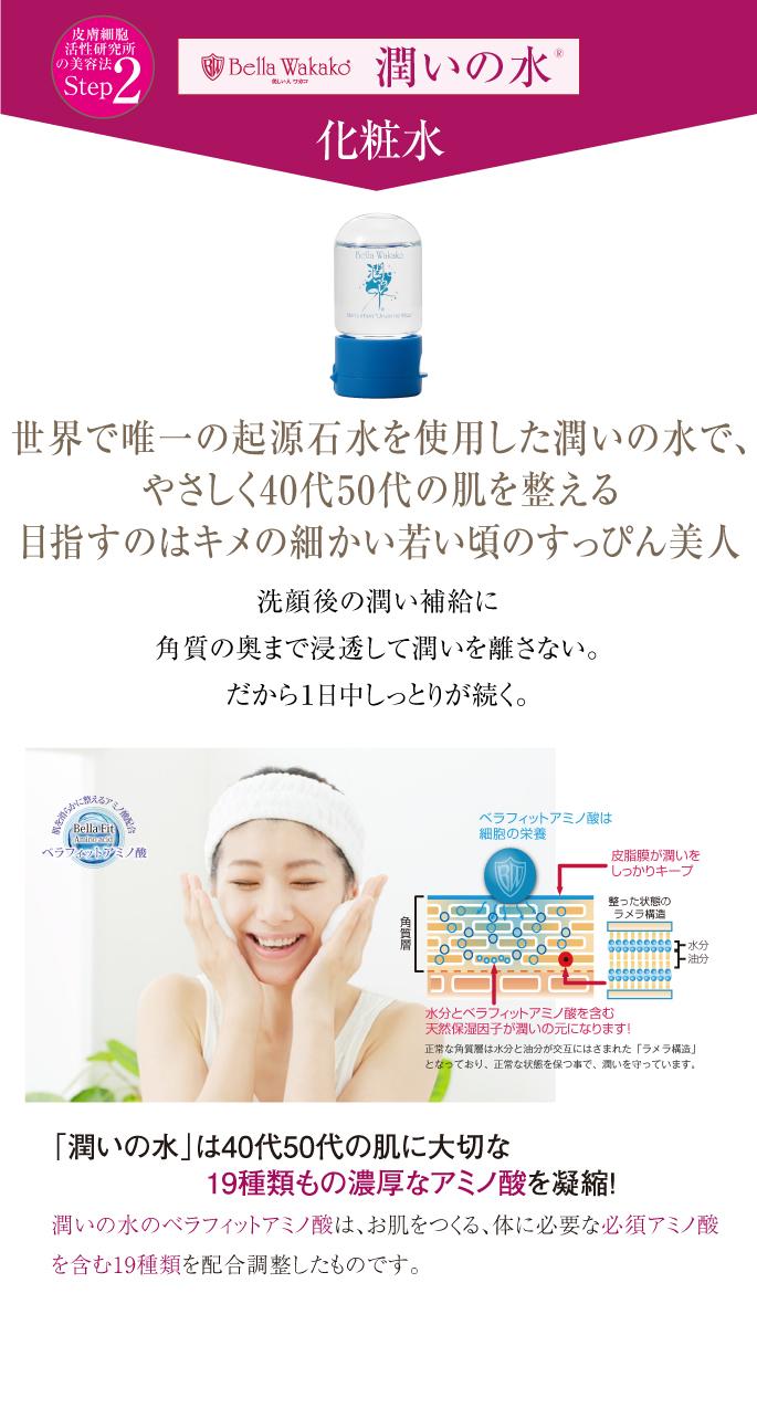 無添加化粧品の潤いの水 栄養補給 スマホ用
